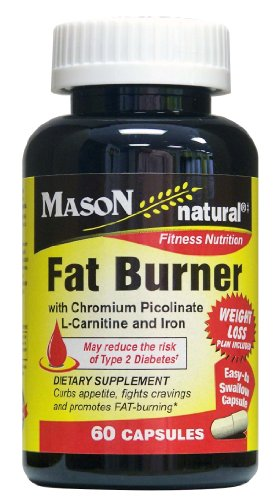 Mason Natural Fat Burner with Chromium Picolinate, L-Carnitine and Iron, 60 Count
