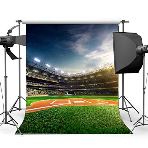 Gladbuy Vinyl 5X7FT Baseball Field Backdrop Stadium Stage