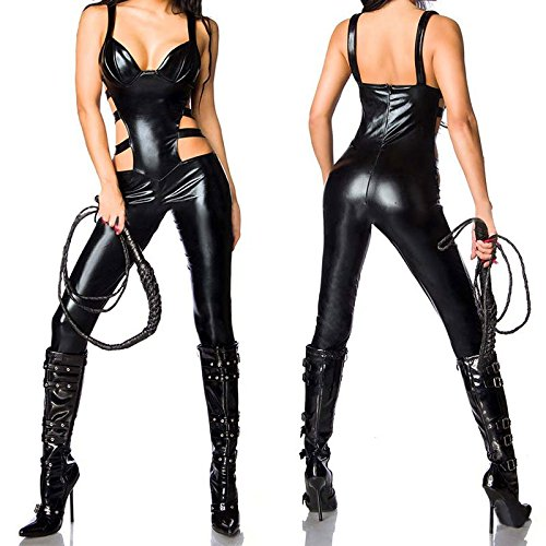 New Women Sexy Leather Show Erotic Bodysuit Open Crotch Sexy Bondage Role-Play Sex Product Sex Toys for Woman by CNSKJEOIcnjfl