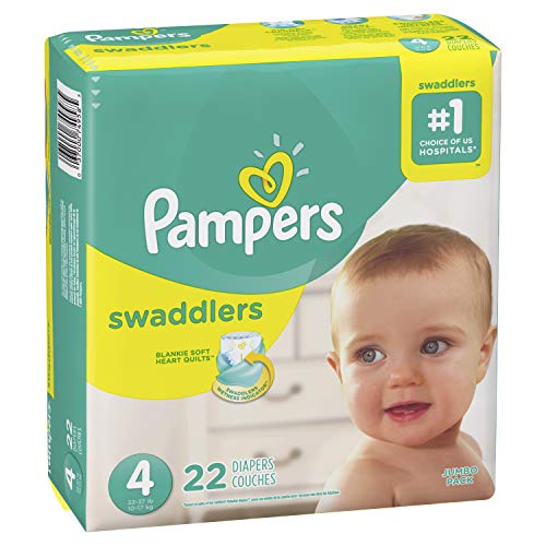 Pampers Pampers Swaddlers Diapers Size 4, 22 ct