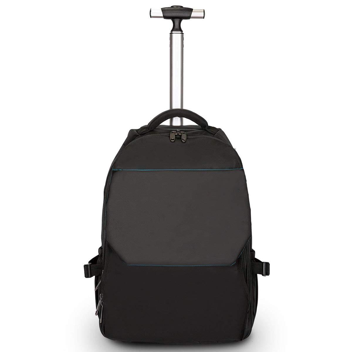 XHHWZB Leichtes Geschäftsreise-rollendes Rollen-Laptop PC-Tablet-Computer-Laufkatzen-Rucksack-Koffer-Handgepäck-Kabine genehmigte Taschen-Kasten-Organisator mit Nachtabteil, schwarz schwarz (Farbe : Purple) jiaguwen