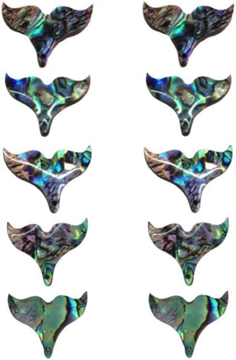 Healifty Colgante de Concha de abulón Colgante Sirena en Forma de Cola de Piedras Preciosas semipreciosas Cuentas espaciadoras Sueltas para Pulseras de Bricolaje Collares joyería Que Hace 10 Piezas