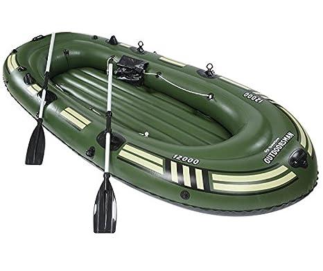 SZ5CGJMY ® Heavy Duty 4 persona inflable Balsa de Balsa Pesca Barco Set Peso máximo 300 kg), color verde