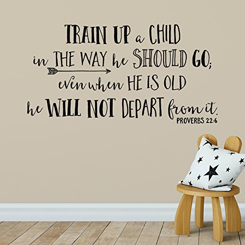 Proverbs 22:6 Vinyl Wall Decal 3 by Wild Eyes Signs Train up a child in the way he should go, Church Nursery, Arrow, Nursery Bible Verse Art, Christian School, Modern Home Decor, PRO22V6-0003