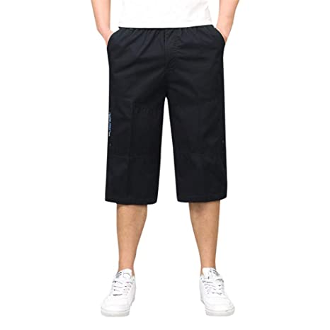 Amazon.com: Men Cargo Shorts Casual Loose Multi-Zip Multi ...