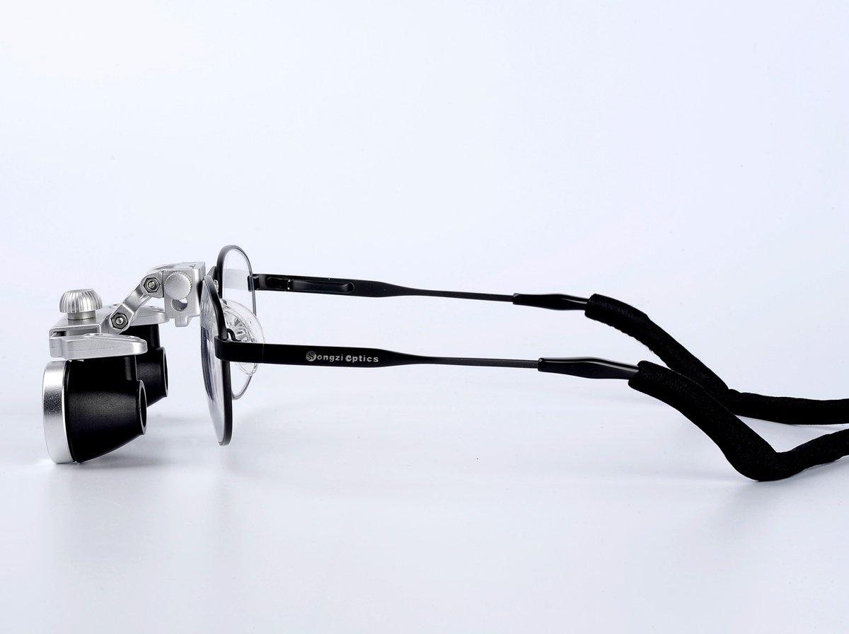 Waterproof (2.5X,3.5X Optional) Titanium frame Dental Surgical Loupes (Magnification:2.5X)