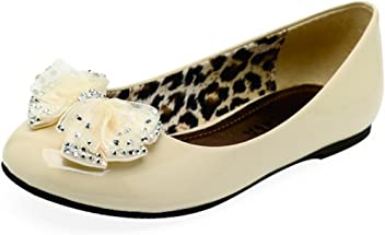 570f77d39c167 Lasonia Girls  Flat Shoes with Bow and Jewel Accent