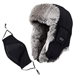 Fancet Unisex Bomber Russian Trapper HatOccasionA great daily accessories for cold winter and snow weather, hunting, cycling, skiing, snowboarding, camping, hiking, dog walking and so on, windproof & waterproof shell,equiped with a mask, ...