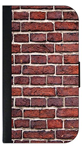 (Brick Wall Print-TM Leather and Suede PU Case Compatible with the Apple iPad« Mini Versions 1,2, and 3 Made in the USA)