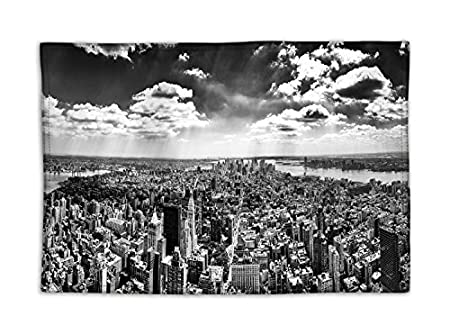 Manteles individuales de comedor blanco y negro Ciudad de Nueva ...