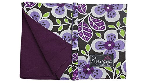 Nirvana Needle Arts 7'' Hook and Needle Case Purple Floral by Nirvana Needle Arts