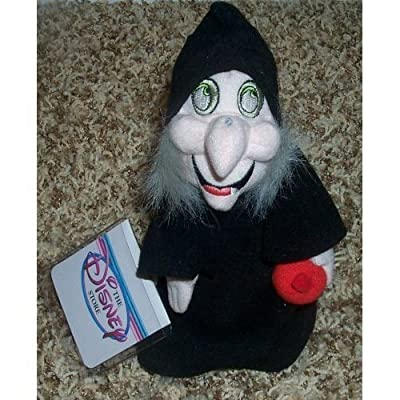 "Retired Disney Snow White and the Seven Dwarfs Poisoning Apple Witch 9"" Plush Bean-bag Doll Mint with Tags: Toys & Games"