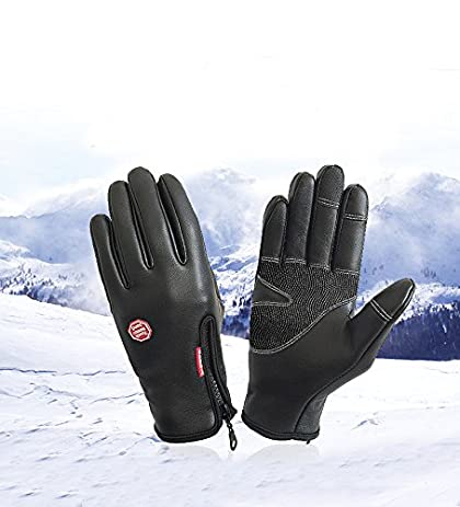 Amazon.com : Skuleer(TM) New PU Waterproof Horse Riding Gloves Touch ...
