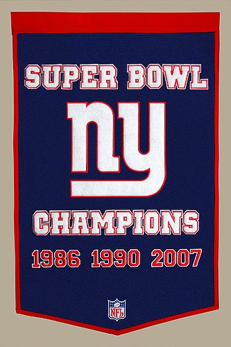 New York Giants Banner Wool Dynasty - Licensed NFL Memorabilia - New York Giants Collectibles