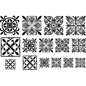 Cool Tools - Jewel Stamps for Soft Clay - Filigree Squares 2 ()