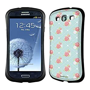 AIYAYA Samsung Case Designs Rose Wallpaper French Country Patterns Hybrid Gel Back Case for Samsung Galaxy S3 III I9300