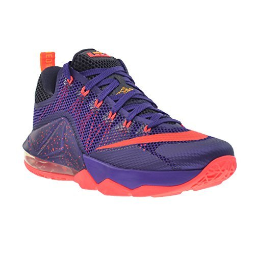 37b9fd18ca6a9 Nike Lebron XII Low Mens Shoes Court Purple Bright Crimson-Purple-Laser  Orange 724557-565  Buy Online at Low Prices in India - Amazon.in