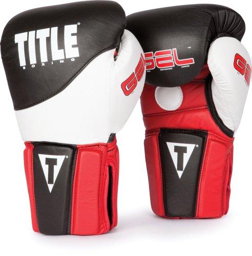 TITLE GEL Tri-Brid Training Gloves, Black/Red, Regular