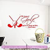 Golf Ball Wall Art Stickers Mike Weir Quote Removable Vinyl Decal wall Art Sports theme wall Decals