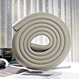 Premium High Density Furniture Table Edge Protectors Foam Baby Safety Bumper Guard 2 Meters (6.5 Ft), 5 Colors (light grey)