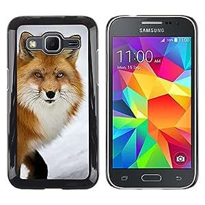 Caucho caso de Shell duro de la cubierta de accesorios de protección BY RAYDREAMMM - Samsung Galaxy Core Prime SM-G360 - Clever Animal Winter Nature
