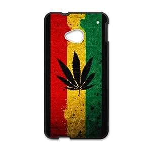 HTC One M7 Phone Case for Marijuana Leaf grass Classic theme pattern design GMJLGCT872795