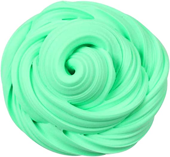Red Slime 8oz Fluffy floam elástico Brinquedo sensorial alívio de tensão