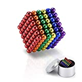 Exblue 5MM Magnetic Block Ball Cube, Magnets Sculpture Building Blocks Toys for Intelligence Development and Stress Relief, Multicolor