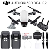 DJI Spark Drone Quadcopter - Alpine White with Remote Controller, 2 Batteries, Sandisk Ultra 32GB Memory, Card Reader, Charger, Bundle Starter Kit