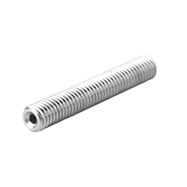 5 unids Acero Inoxidable M6 Boquilla Garganta Tubo PTFE Accessary para Impresora 3D Extrusora MK8 1.75mm M6*50mm Tubo extrusor de impresora 3D