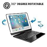 iPad Pro 11 inch Keyboard Case, Flip Folio Shell Case,360 Rotatable Wireless Backlit