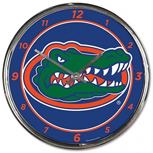 - NCAA Florida Gators WinCraft Official Chrome Clock