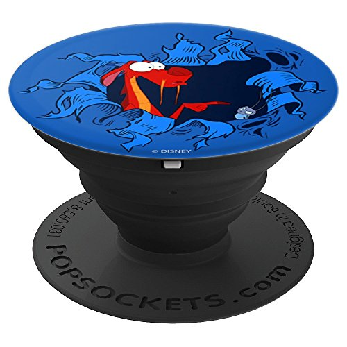 Disney Mulan Mushu & Cri-Kee Popping Out Of Hole - PopSockets Grip and Stand for Phones and Tablets