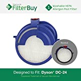 Dyson DC24 (DC-24) Post HEPA Filter, Part # 915928-01. Designed by FilterBuy to fit ALL Dyson DC24 Upright Vacuum Cleaners.