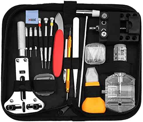 Watch Repair Kit, Professional Watch Battery Replacement Tool Link Remover Deluxe Watch Band Tool Set with Carrying Case for Repairing Quartz/Mechanical Wrist Watch, Citizen Watches and More 149 PCS