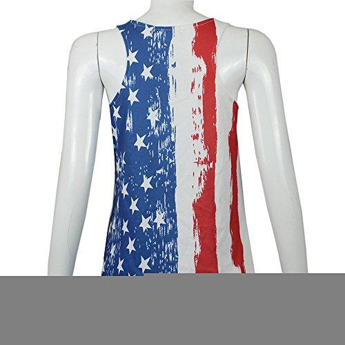 Vovotrade® Frauen Amerikanische Flagge gedruckt Tank Tops Casual Bluse Shirt Weste