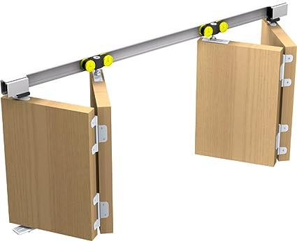 Mantion – Herraje para Tango 40 – 180 para 2 x Puerta plegable plegable Puerta Corredera
