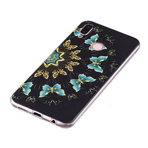 Funda Huawei P20 Lite, Carcasas de Huawei P20 Lite, Ultra Slim Premium Design Funda protectora de silicona TPU suave, resistente a los arañazos, ...