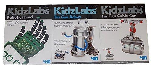 4M Robotic Hand, Tin Can Robot, and Tin Can Cable Car Bundle ()