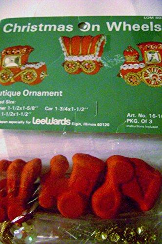 - Vintage Lee Wards Beaded Christmas on Wheels Ornaments Kit Makes 3