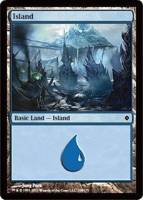Magic: the Gathering - Island (168) - New Phyrexia - Foil