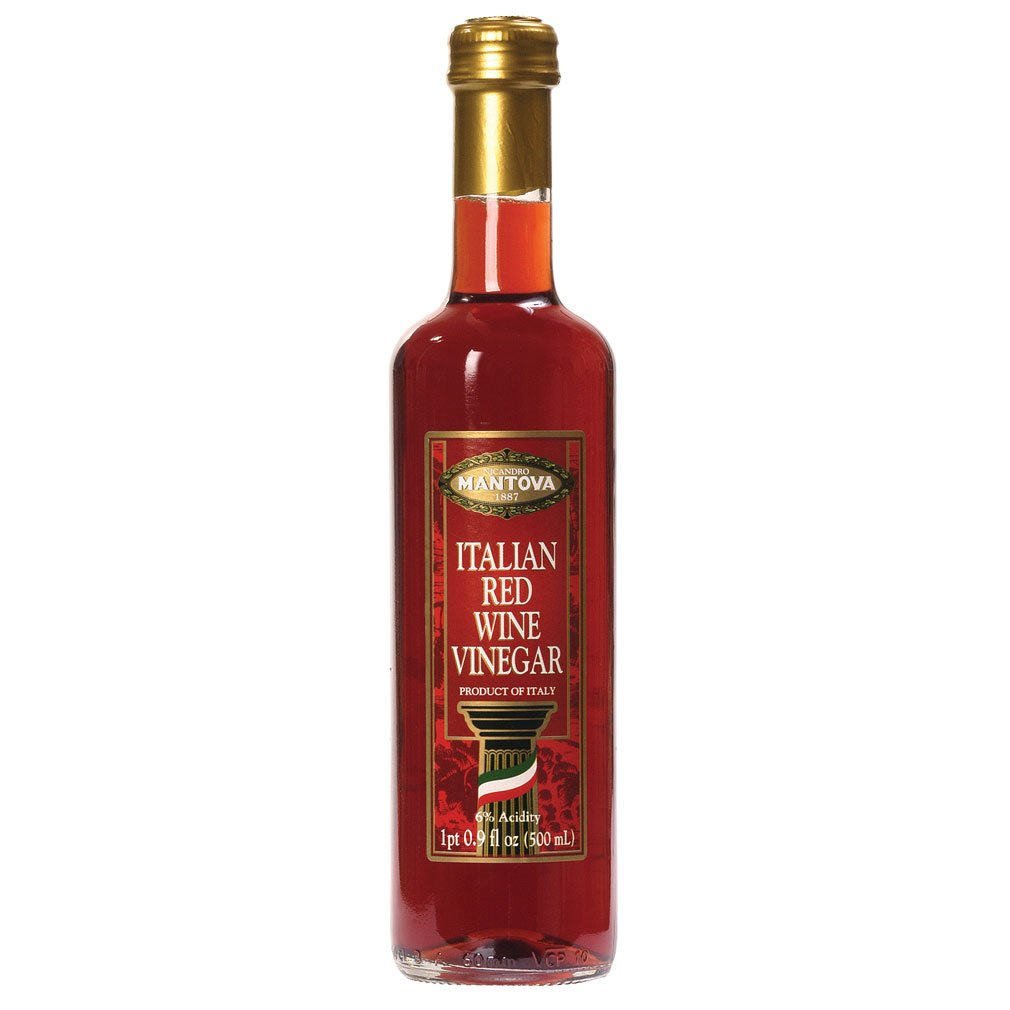 Mantova Vinegar Wine Red, 17 oz