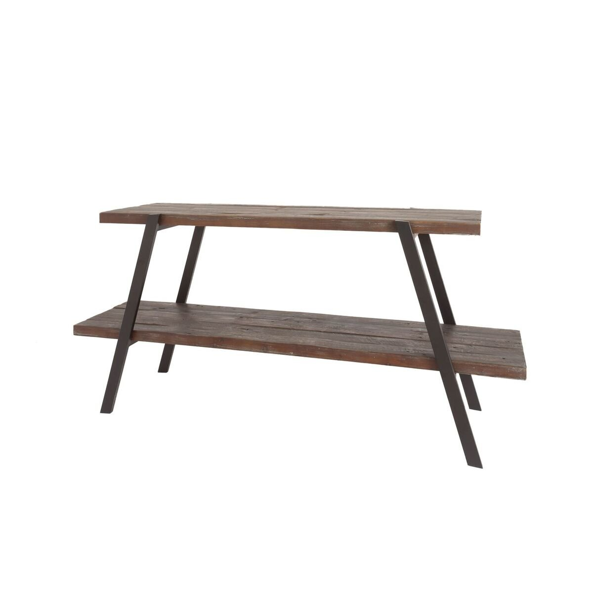 Belmont Home 50 inch Industrial Fir Wood and Iron 2 Shelf TV Stand