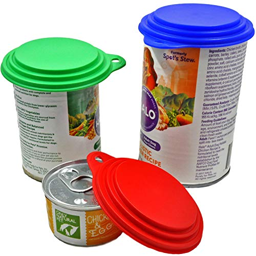 Dog, Cat, Human Food Can Covers - Made in USA - Sold by Vets - Fits Lg, Med & Small Cans - BPA-Free