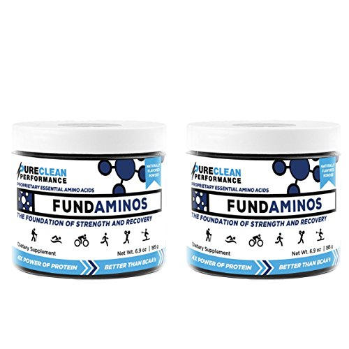 PureClean Performance FUNDAMINOS - Plant-Based Essential Amino Acid+BCAA Blend, Organic, Nothing Artificial, Athlete-Endorsed, Physician-Formulated for Peak Strength and Faster Recovery (2-Pack)