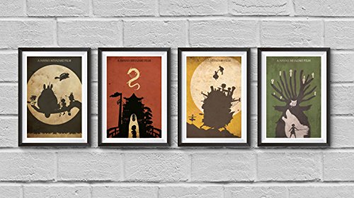 Hayao-Miyazaki-Minimalist-Poster-Set-My-Neighbor-Totoro-Spirited-Away-Howls-Moving-Castle-Princess-Mononoke-Print-Japanese-Anime-Illustration-Manga-Wall-Artwork-Home-Decor-Hanging-Cool-Gift