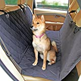 LerriPets Dog Car Seat Cover - Pet Waterproof Hammock for Cars and SUVs - with Dog Seat Belt Included