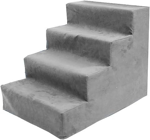 Escalera Escaleras portátiles para Mascotas, Escalera Antideslizante para Suministros para Perros y Gatos, Lavables - Gris (Tamaño : 4-Tier): Amazon.es: Hogar