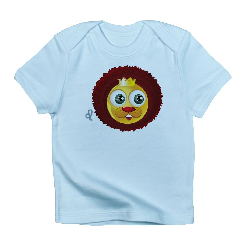 Truly Teague Infant T-Shirt SmileyFace Zodiac Leo 3 To 6 Months Sky Blue
