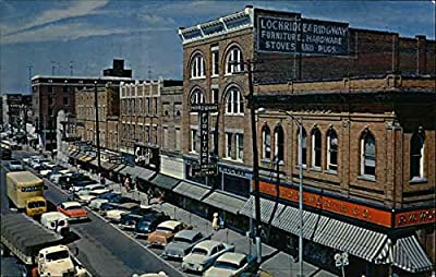 Broadway Looking West from the J.J. Newberry Corner Mayfield, Kentucky Original Vintage Postcard